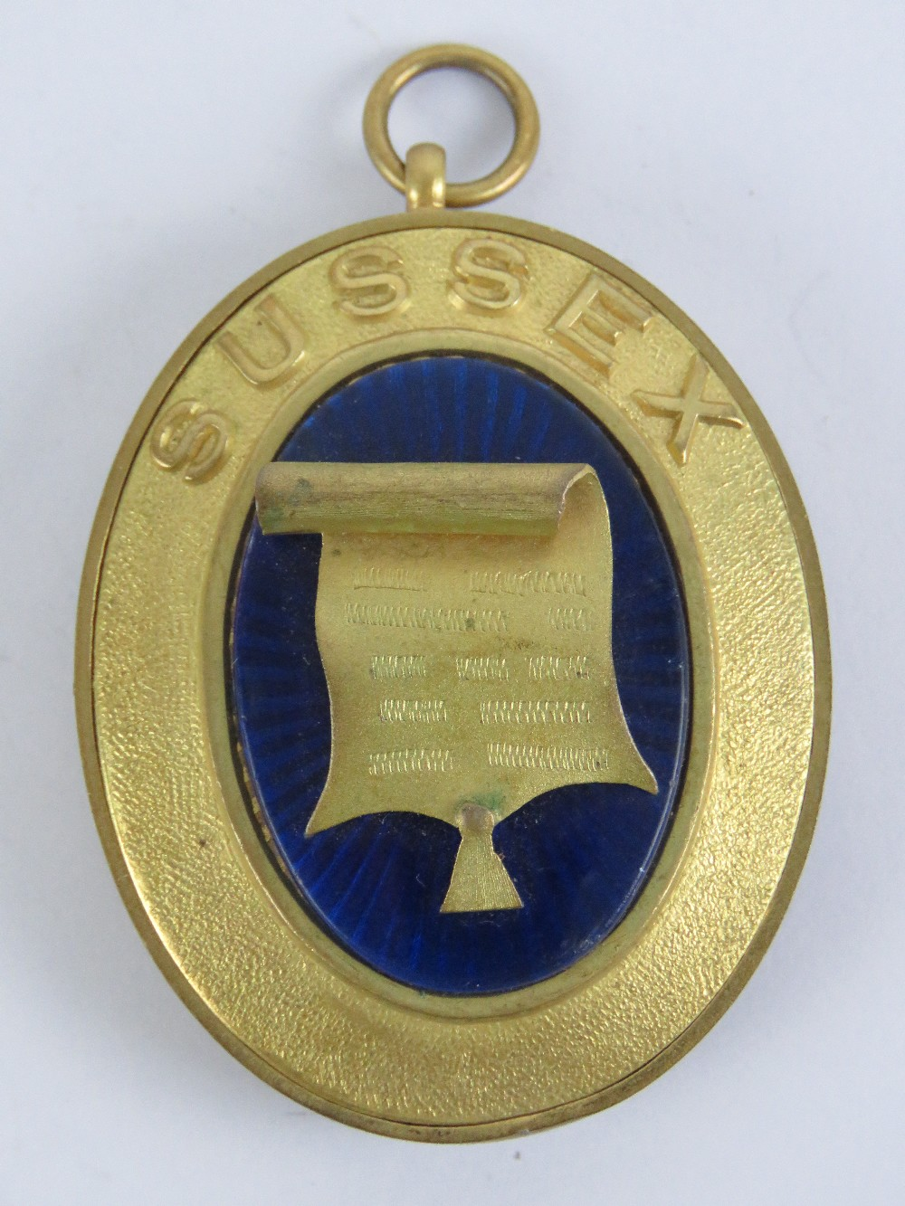 Lot 52 - Masonic; A Registrar collar jewel for Sussex made by Toye, Kenning & Spencer London.