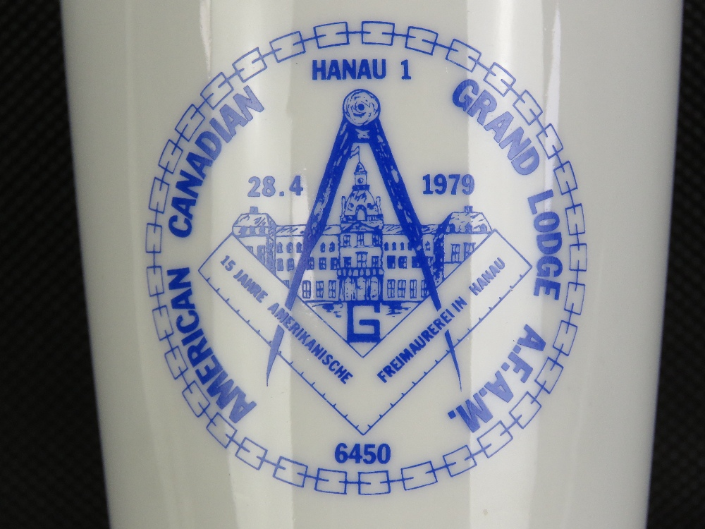 Lot 55 - Masonic; An American Canadian Grand Lodge AFAM 6450 cup.