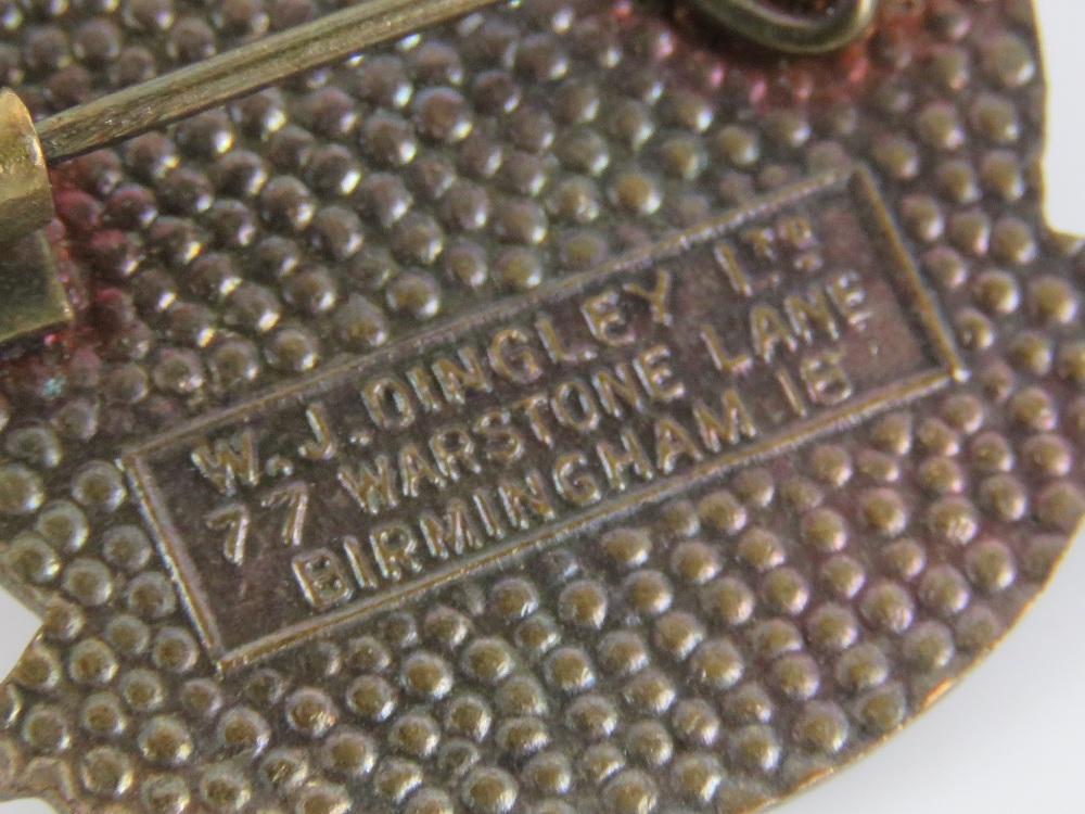 Lot 57 - Masonic; Grand Lodge of Belfast 1963 Centenary enamelled badge made by WJ Dingley Ltd,