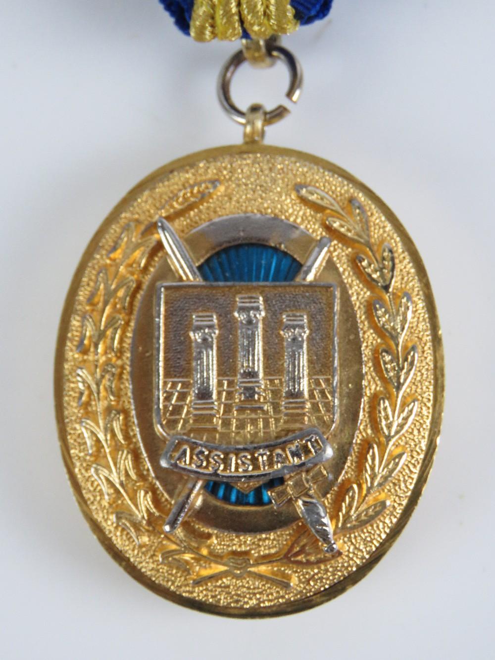 Lot 54 - Masonic; A Craft Grand Rank undress collar having sword bearer assistant jewel upon.