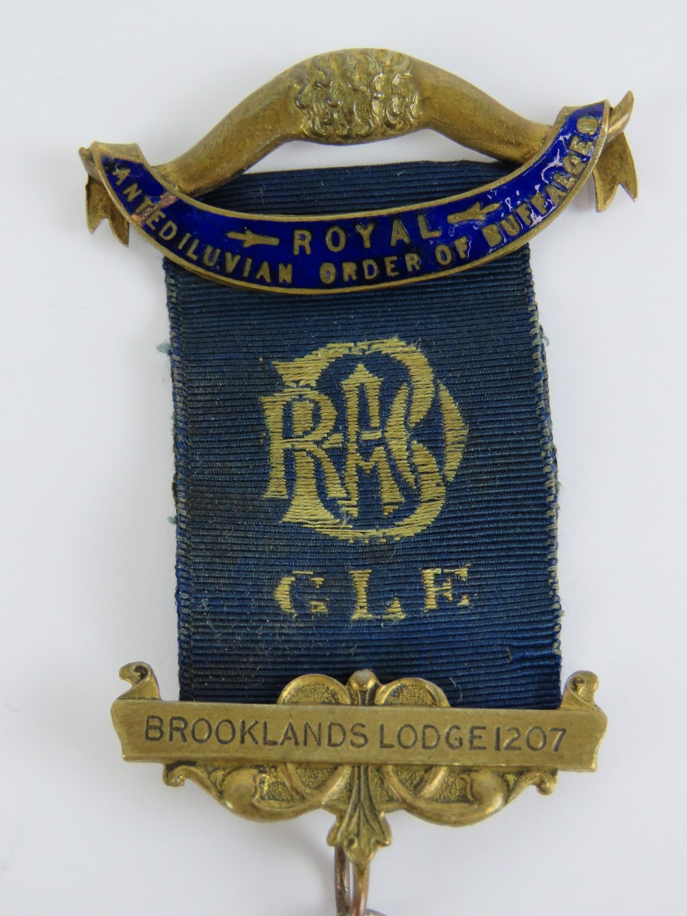 Lot 45 - Royal Antediluvian Order of Buffaloes; Brooklands Lodge No 1207 medal having HM silver jewel below,