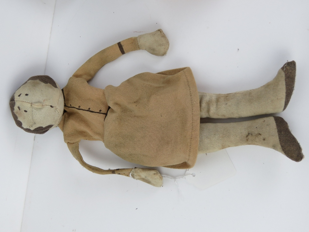 A 1970s cloth and sand doll, - Image 7 of 8