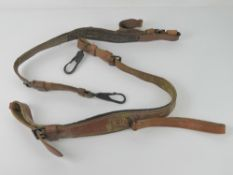 A pair of leather MG42 /53 Lafette strap