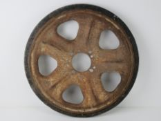 A WWII German SD.Kfz. 251 track wheel.