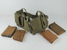 A belt having BAR magazine pouches upon
