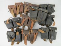 Ten Mosin Nagant ammo pouches.