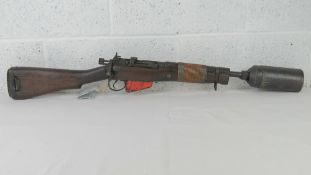 A deactivated Lee Enfield Grenade Launch