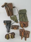 A quantity of assorted gun pouches and h