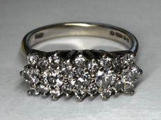 A superb 1.21ct diamond and 18ct gold ri