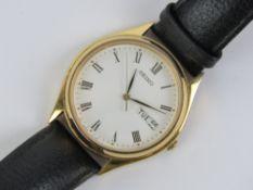A Seiko quartz wristwatch having white d