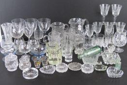 A quantity of assorted glassware includi