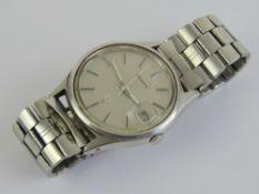 A Seiko wristwatch having grey dial, dat