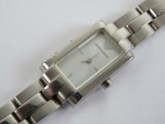 A ladies Emporio Armani wristwatch havin