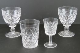 A pair of Stewart Crystal stemmed glasse