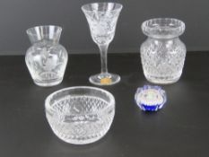 A Waterford Crystal cut glass small bowl
