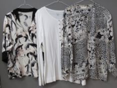 Ladies shirts and blouses inc Zara, Monsoon and Gerry Webber. Approx UK size 12-16. Seven items.