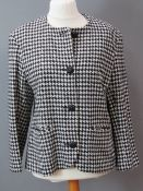 A hounds tooth pattern ladies jacket, 75% wool, UK size 16.