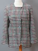 Paul Costello; 100% pure new wool ladies tweed jacket, dry clean only label within, UK size 14.