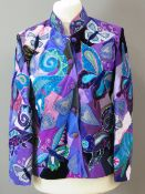 Beatrice Von Trescow; A highly decorative patchwork jacket featuring chameleons and butterflies,