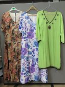 A quantity of assorted ladies shirts and blouses inc sequined covers, Windsmoor shirt,