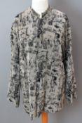 Ladies oriental pattern jacket by Kenki, dry clean only label within.