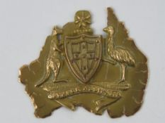 A 9ct gold Australian souvenir, hallmarked, engraved Beatrice from Ernest 26-5-14, 2.1g.
