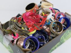 A large quantity of assorted vintage and contemporary costume jewellery including necklaces,