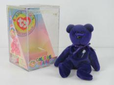 Ty Beanie Babies/Beanie Bears; a rare Indonesian made bear, Princess, no tag.