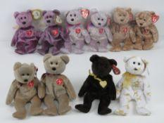 Ty Beanie Babies/Beanie Bears; A collection of Signature bears 1999, 2000 (x2) 2001 (x2),