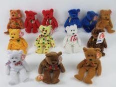 Ty Beanie Babies/Beanie Bears; 'Unity' (x2), 'Germania' (x2), 'Pinata', 'England', 'New Brunswick',