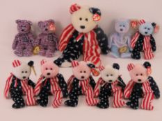 Ty Beanie Babies/Beanie Bears; American themed 'Issy' the Four Seasons Hotel San Francisco with tag,
