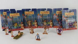 Disney Pocahontas figurines by Mattel including Pocahontas x 2, Kocoum,