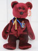 Ty Beanie Babies/Beanie Bears; 'Buckingham' in plastic case with tag.