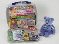 Ty Beanie Babies/Beanie Bears; misprinted 'Clubbie II' (having Clubbie label to bottom, no tag,