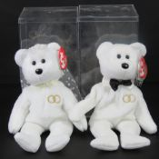 Ty Beanie Babies/Beanie Bears; 'Mr & Mrs' in plastic case with tags.