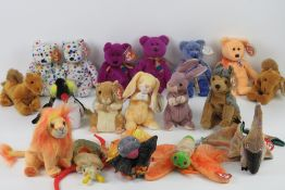 Ty Beanie Babies/Beanie Bears; 'Milennium' (x2, one with tag, one without), 'Ty 2K', (x2 with tags).