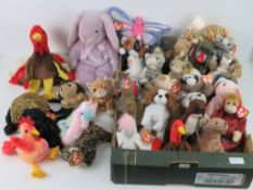 A large quantity of Ty Beanie Babies all with tags; 'India', 'Prickles', 'Chip', 'Luke', 'Prance',