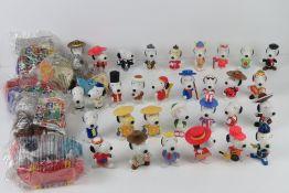 Snoopy; c1990s McDonald's figurines including USA, Texas, UK, Peru, Philippines, Singapore,