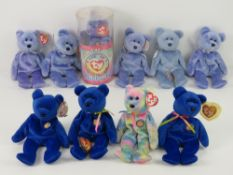 Ty Beanie Babies/Beanie Bears; Official Club bears; 'Clubbie' (x3 - one with loose tag),