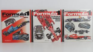 Formula 1 Technical Analysis by Giorgio Piola. 2005-6, 2008-9 and 2011-12 editions.