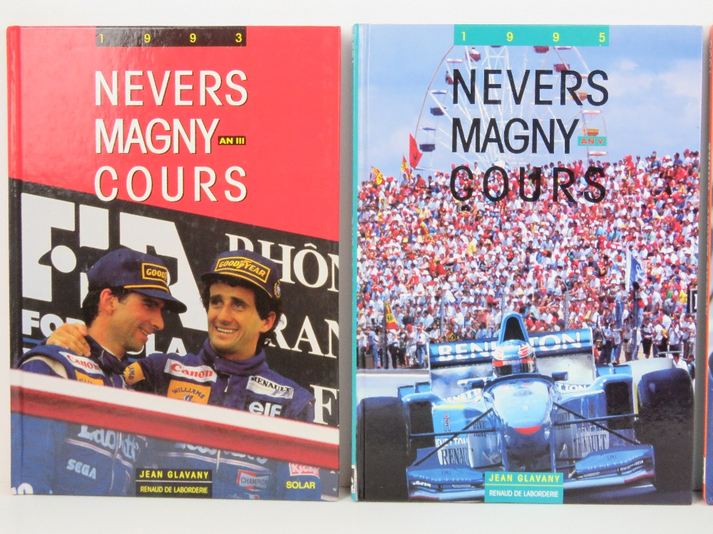 Nevers Magny Cours. 1992, 1993, 1995, and 1996 editions. French text hardcover books. - Image 2 of 3