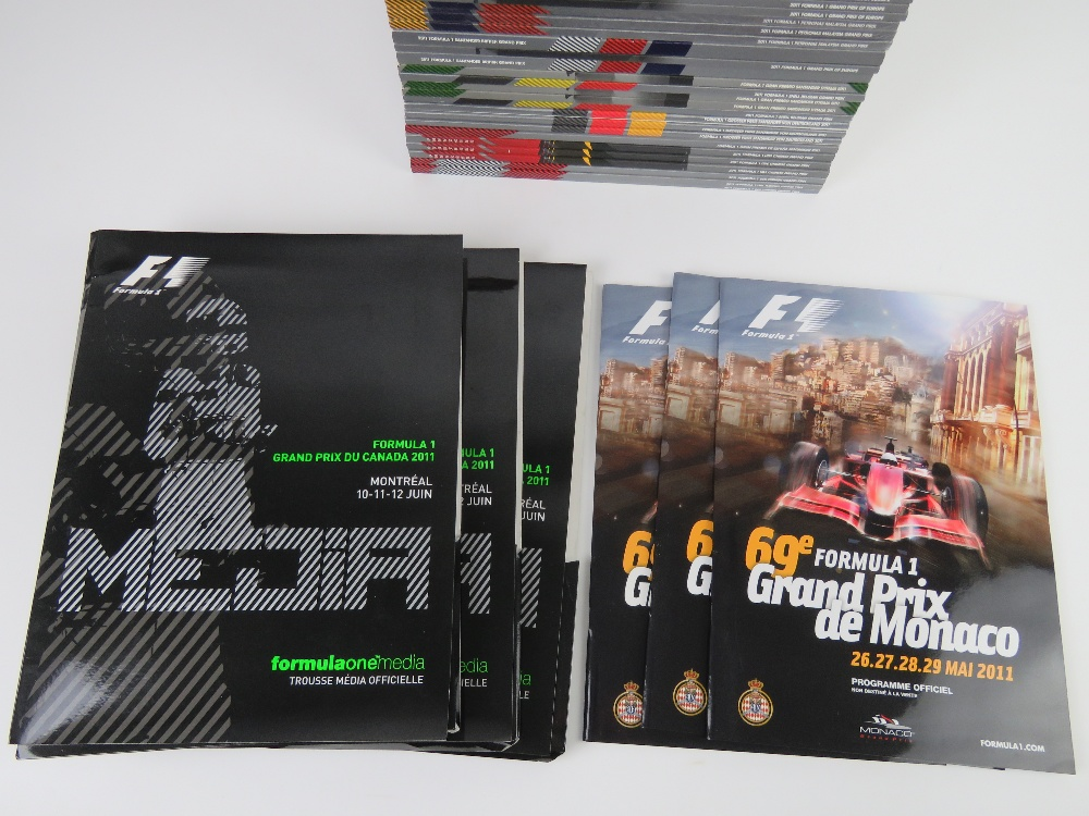 A large quantity of assorted Formula 1 race programmes for 2011 and 2012. - Image 3 of 3