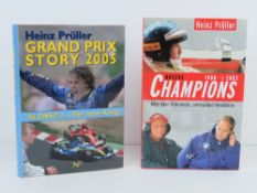 Grand Prix Story 2005, and Unsere Champions. Two German edition hardback books.