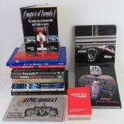 A quantity of assorted F1 themed books including Formula 1 Season Review 2007,
