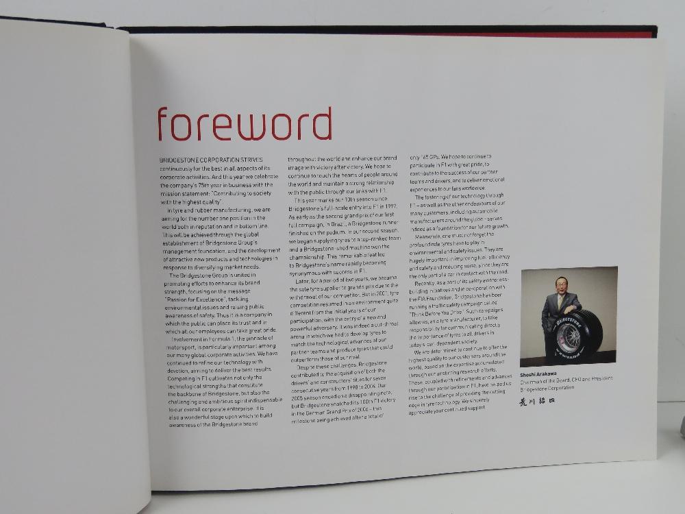 10 Years of Bridgestone in F1, hardback book, together with Arigatou by Bridgestone, hardback, - Image 3 of 3