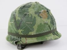 A US 5th Cavalry Vietnam era helmet with