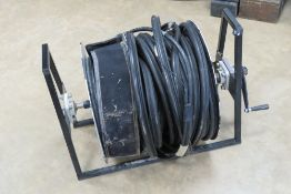 An RAF engineering fibre optic cable whe