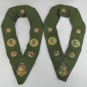 The Royal Antediluvian Order of Buffaloes (RAOB); two collars being C.W and C.