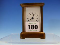 A FRENCH MINIATURE CARRIAGE TIME PIECE. H 8.5cms.