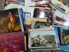 A LARGE QUANTITY OF VARIOUS LOOSE POSTCARDS. (QTY)